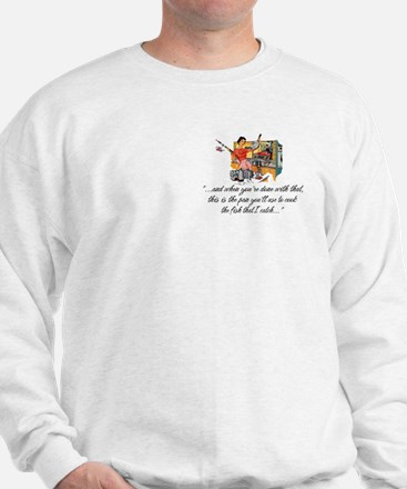 Fishing Housewife Sweatshirt