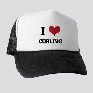 I Love Curling Trucker Hat