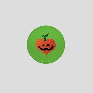Pumpkin Heart Mini Button