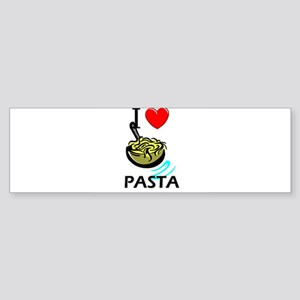 I Love Pasta Bumper Sticker