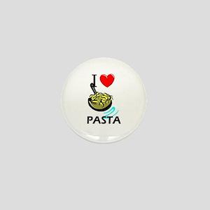 I Love Pasta Mini Button