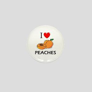 I Love Peaches Mini Button