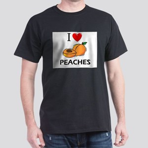 I Love Peaches Dark T-Shirt