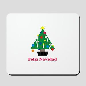 Feliz Navidad - Christmas Tre Mousepad