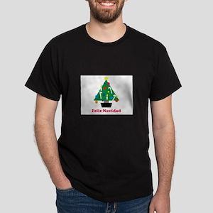 Feliz Navidad - Christmas Tre Dark T-Shirt