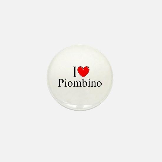 """""""I Love (Heart) Piombino"""" Mini Button"""