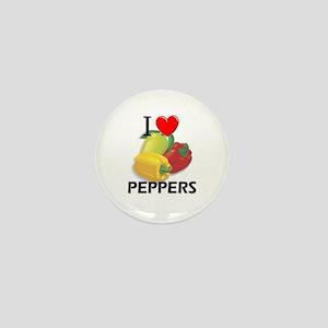 I Love Peppers Mini Button