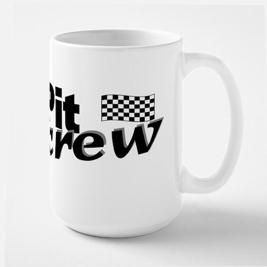 Pit Crew Racing Flag Large Mug
