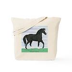 Black Morgan Horse Tote Bag