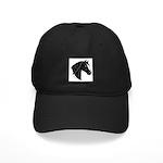 Black Morgan horse head Black Cap