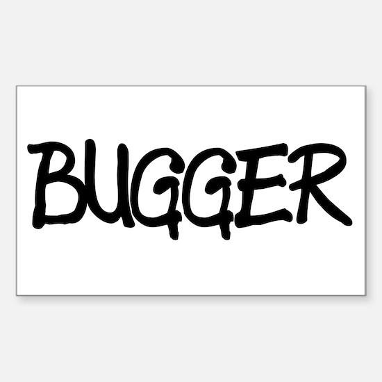 BUGGER Rectangle Decal