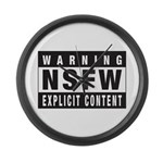NSFW Not Safe For Work Large Wall Clock