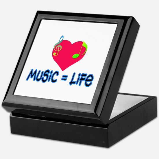 Music = Life Keepsake Box
