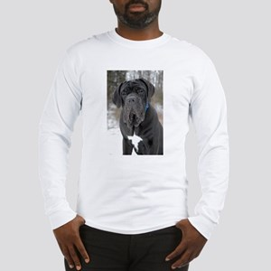 Pugs head shot snow (2) Long Sleeve T-Shirt