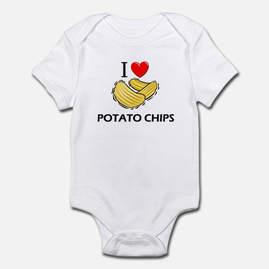 I Love Potato Chips Infant Bodysuit