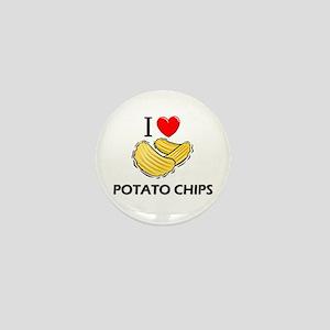 I Love Potato Chips Mini Button