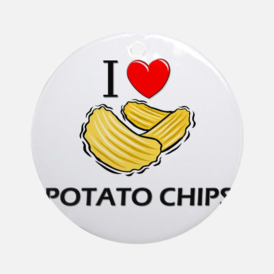 I Love Potato Chips Ornament (Round)