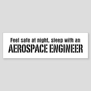 Feel Safe with an Aerospace Engineer Sticker (Bump