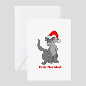 Feliz Navidad - Santa Claus C Greeting Card