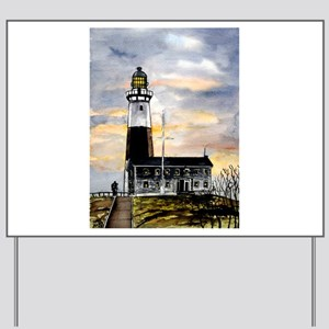 Montauk Point lighthouse New Yard Sign