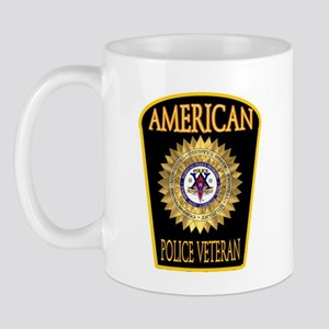 American Police Veterans Patc Mug