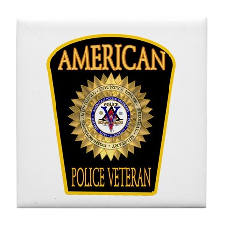 American Police Veterans Patc Tile Coaster