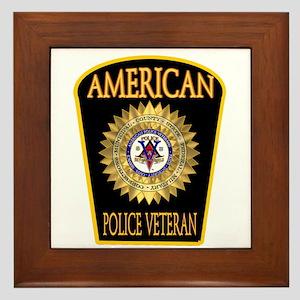 American Police Veterans Patc Framed Tile