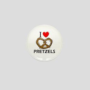 I Love Pretzels Mini Button