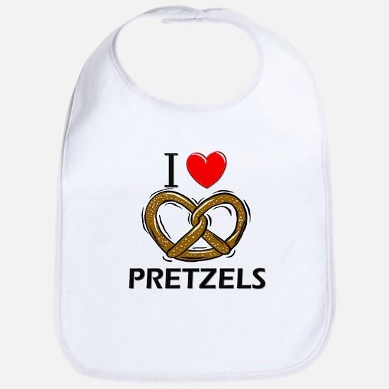 I Love Pretzels Bib
