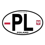 Poland Intl Oval Oval Sticker (50 pk)