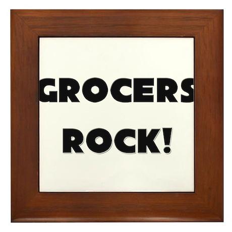Grocers ROCK Framed Tile