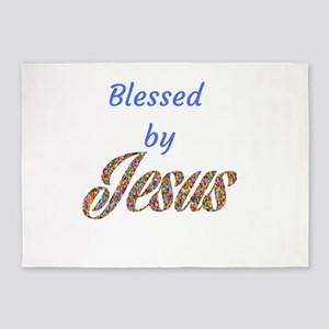 Blessed by Jesus 5'x7'Area Rug