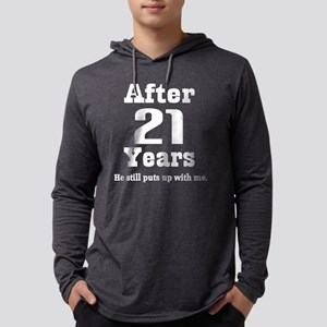 21st Anniversary Funny Quote Long Sleeve T-Shirt
