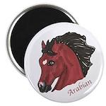 Bay Arabian Horse Head Magnet