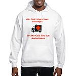 Oh, Did I Hurt Your Feelings? Hooded Sweatshirt