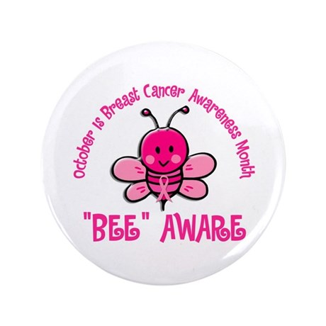 "Breast Cancer Awareness Month 4.2 3.5"" Button (100"