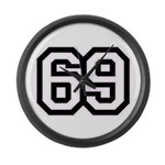 69 SIXTY NINE Large Wall Clock
