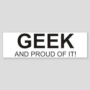 The Proud Geek Bumper Sticker