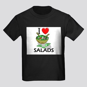 I Love Salads Kids Dark T-Shirt