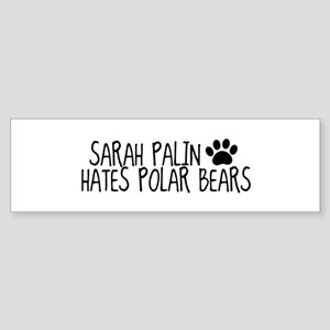 Sarah Palin Hates Polar Bears 'Bumper Sticker'