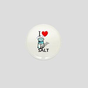 I Love Salt Mini Button
