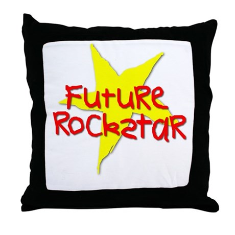 Future Rockstar Throw Pillow