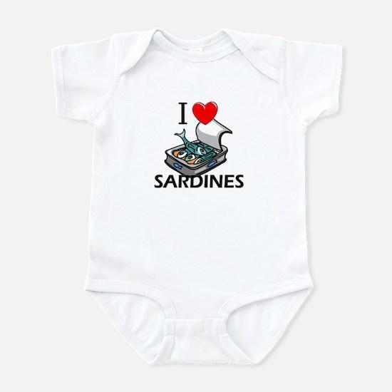 I Love Sardines Infant Bodysuit