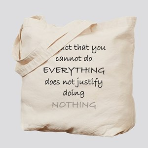 Do Nothing Blk Tote Bag