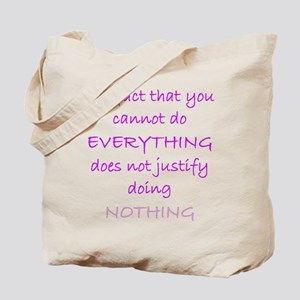 Do Nothing Magenta Tote Bag