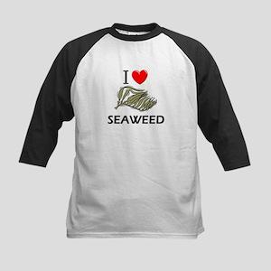 I Love Seaweed Kids Baseball Jersey