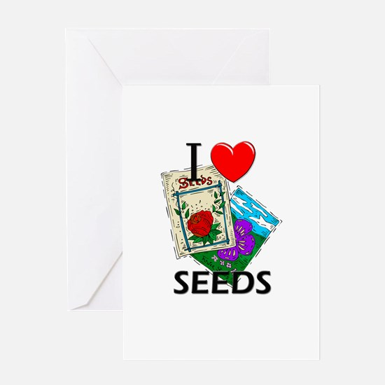 I Love Seeds Greeting Card