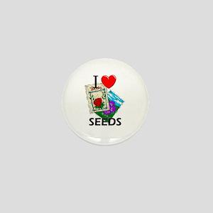 I Love Seeds Mini Button
