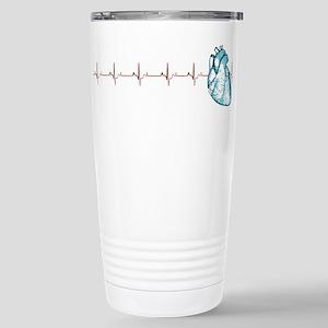 Cardiac EKG Stainless Steel Travel Mug