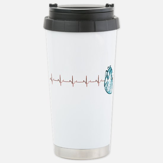 Cardiac EKG Stainless Steel Travel Mug